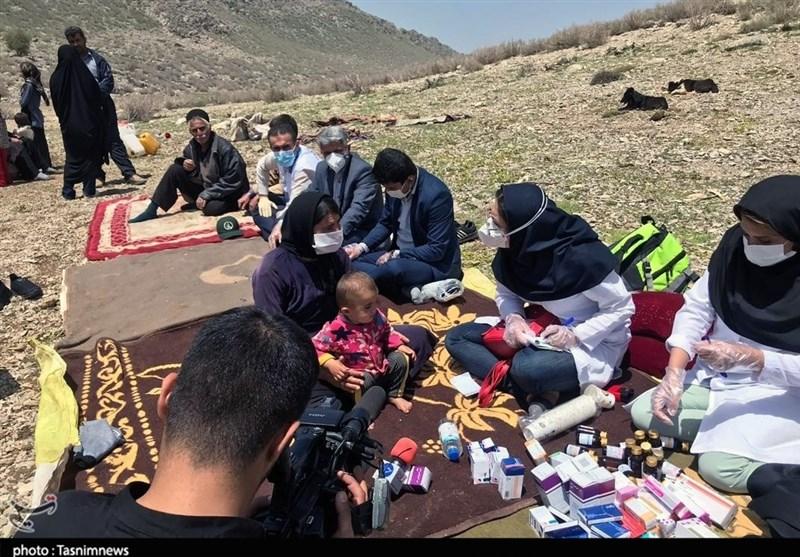 اعزام بالگرد تیم بهداشتی و درمانی به مناطق صعبالعبور عشایرنشین خوزستان + تصاویر