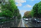 طراوت باران در یک روز بهاری تبریز به روایت تصویر