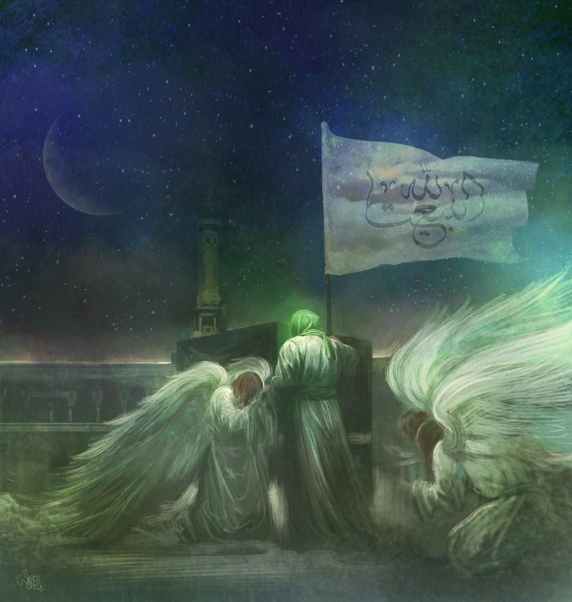 حسن روح الامین , نقاشی , هنرهای تجسمی , امام زمان (عج) , عکس ,