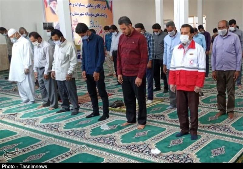 نماز جمعه بشاگرد با همکاری هلال احمر و بسیج برگزار شد؛ ملت ایران در آزمون بیماری کرونا خوش درخشید