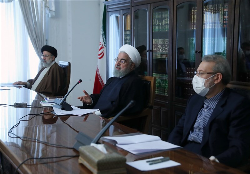 حسن روحانی , سیدابراهیم رئیسی , علی لاریجانی ,