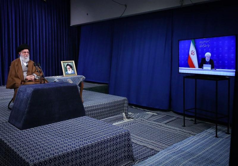 قدردانی روحانی از حمایتهای رهبر انقلاب در جریان مقابله با ویروس کرونا