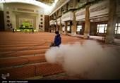 ضد عفونی حسینیه عاشقان ثارالله برای برگزاری مراسمات شبهای قدر در شهرستان کرج + تصاویر