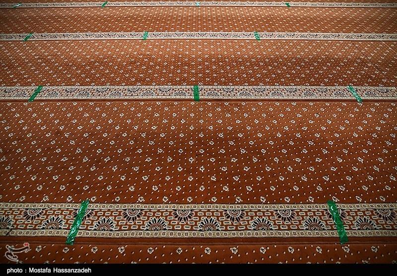 طرح فاصله گذاری و ضدعفونی کردن مصلی گرگان برای برگزاری مراسم شب های قدر