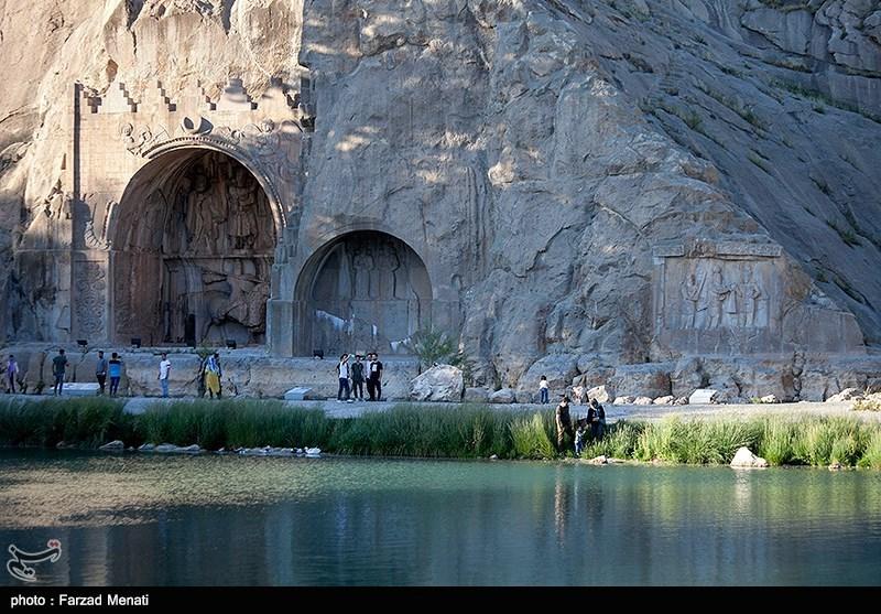 بازگشایی قدیمیترین محوطه تاریخی ایران به روی گردشگران / مردم در طاقبستان خاطرات شیرین را مرور کردند + فیلم