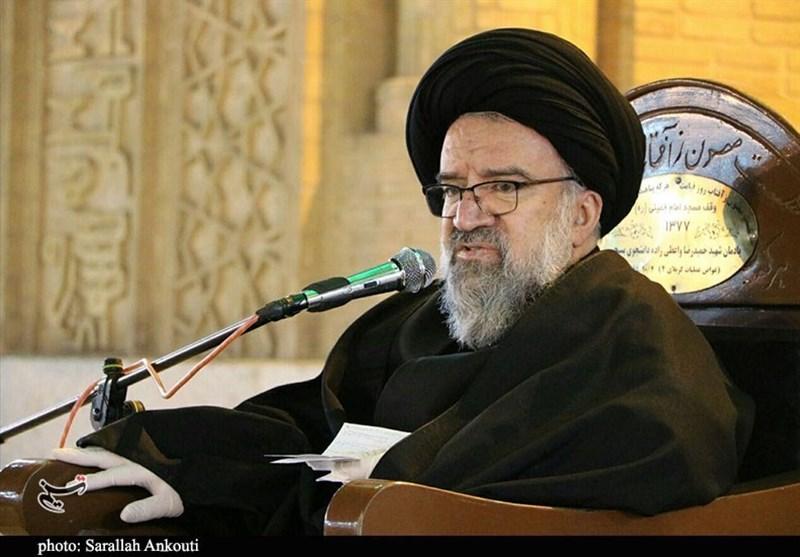 آیتالله خاتمی: اگر مسئولان به حرف رهبری در موضوع آب خوزستان گوش میکردند اوضاع این نبود