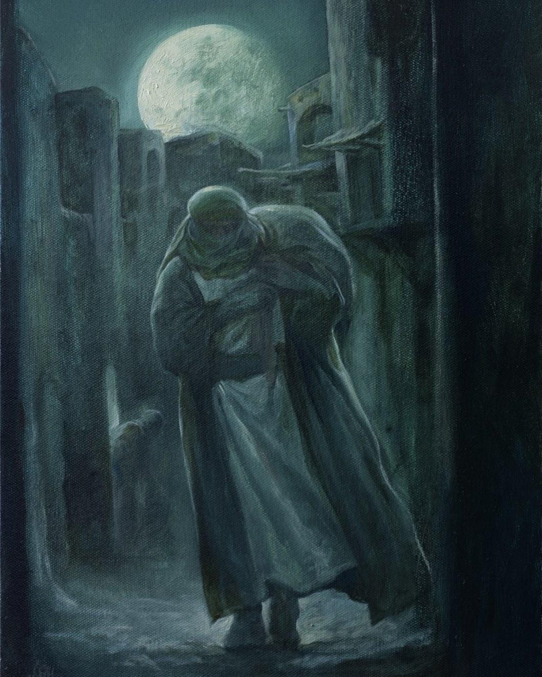 نقاشی , حسن روح الامین , هنرهای تجسمی , ماه مبارک رمضان , شبهای قدر , امام علی (ع)| حضرت علی (ع) ,