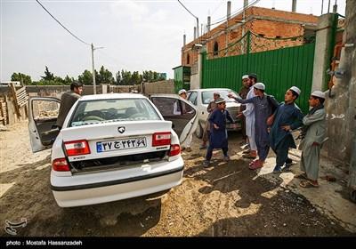 بدلیل نزدیک بودن عید فطر تعدادی از قاریان قرآن به خانه خود بر میگردند