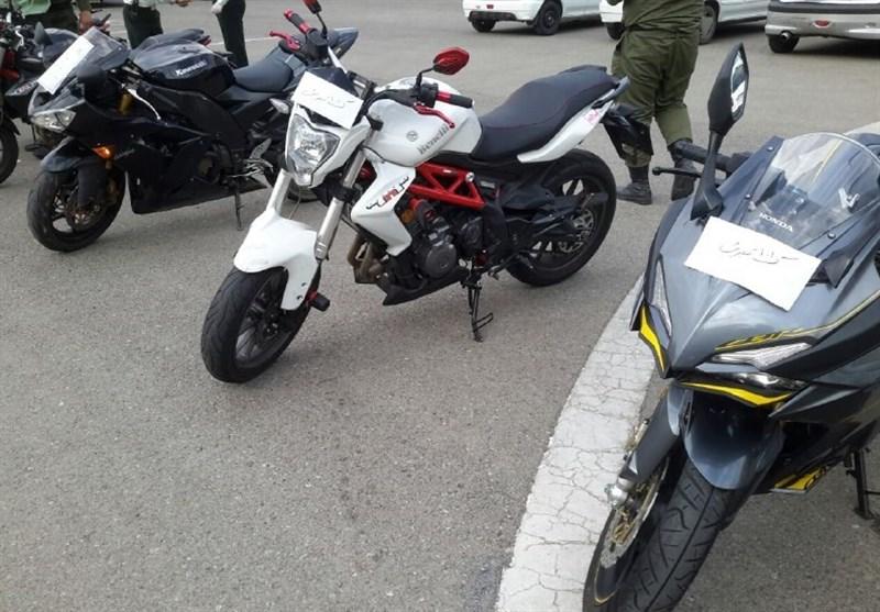 """توقیف خودرو و موتورسیکلتهای """"لاکچری"""" که مزاحم مردم میشدند + فیلم و تصاویر"""