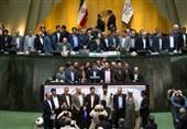 عکس یادگاری نمایندگان دوره دهم مجلس با لاریجانی
