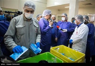 افتتاح خط تولید ماسک سه لایه پرستاری و شیلد ماسک هلالاحمر