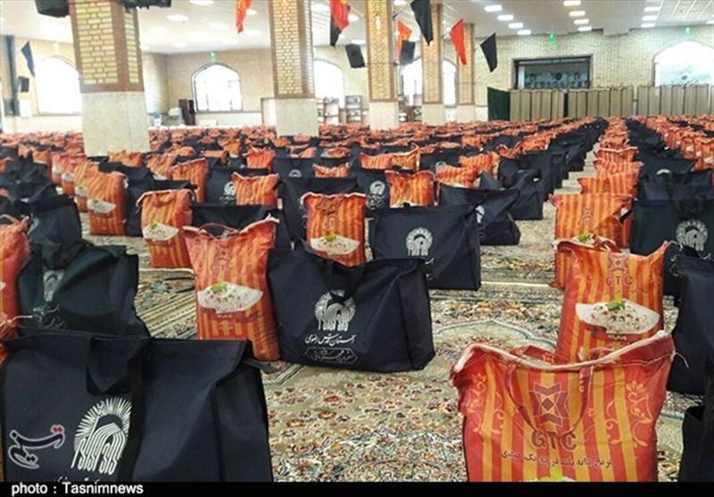 سفره مهربانانه امام رئوف در استان البرز / توزیع 7000 سبد مواد غذایی بین نیازمندان + فیلم