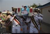 2 شهید حادثه شناور کنارک در بهشت صادق(ع) بوشهر به خاک سپرده شد