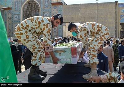 مراسم استقبال از پیکر 4 شهید ناوچه کنارک در شیراز