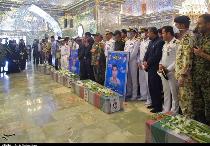 تشییع شهدای ناوچه کنارک در شیراز به روایت تصویر