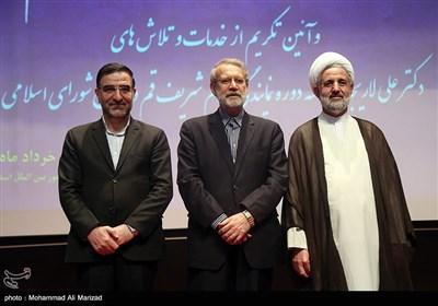 حجت الاسلام ذوالنوری،علی لاریجانی و احمد امیر آبادی سه نماینده دوره دهم مجلس