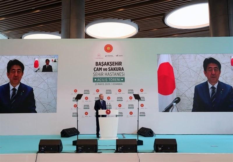 افتتاح بیمارستان استانبول با حضور مجازی نخست وزیر ژاپن