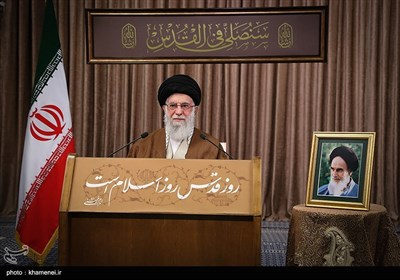 سخنرانی تلویزیونی حضرت آیتالله خامنهای رهبر معظم انقلاب اسلامی به مناسبت روز جهانی قدس