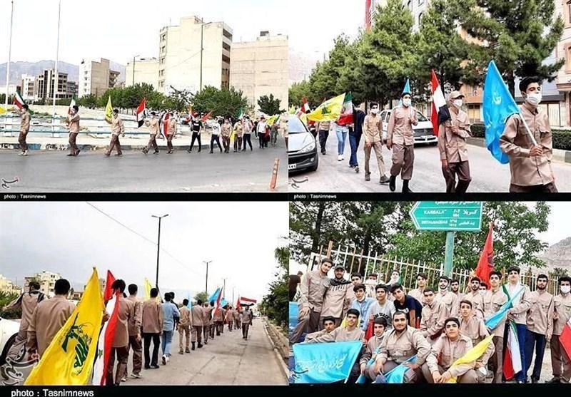 حرکت جهانی «الی بیت المقدس» در خرمآباد برگزار شد+تصاویر