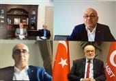 نشست مجازی سفیر ایران با کادر رهبری حزب سعادت ترکیه درباره فلسطین