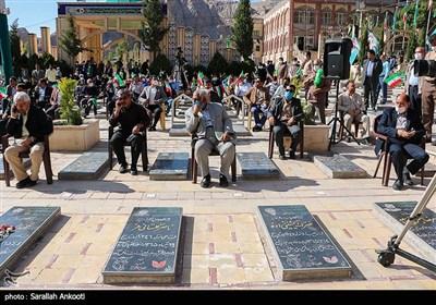 مراسم بزرگداشت روز قدس در گلزار شهدای کرمان