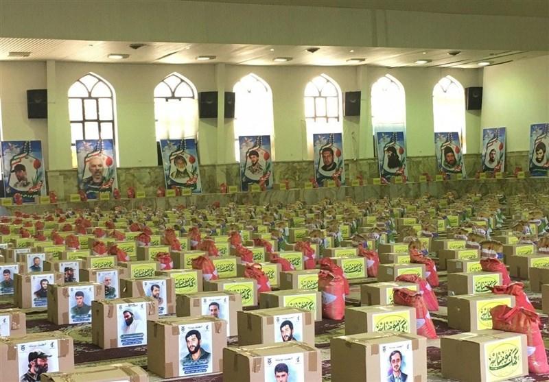 توزیع هزار بسته معیشتی توسط کارکنان ستاد فرماندهی کل سپاه