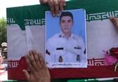 پیکر شهید اردونی از شهدای شناور پشتیبان کنارک در نهبندان تشییع میشود
