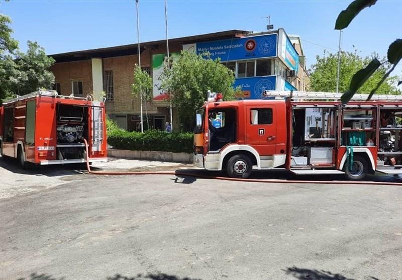 حادثه آتش سوزی در خانه کشتی شهید صدرزاده