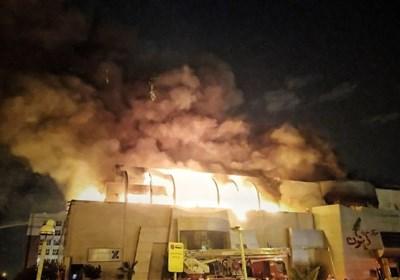 آتشسوزی گسترده بامدادی در مرکز تجاری زیتون + تصاویر