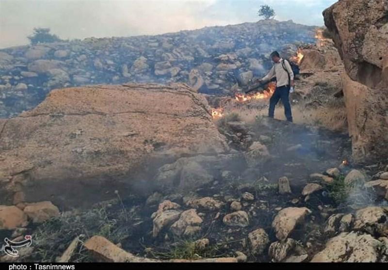 بوشهر| آتشسوزی در منطقه کوهستانی خاییز تنگستان اطفاء شد/ 60 هکتار از مراتع سوخت
