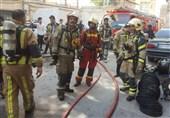 آتشسوزی انبار پارچه در خیابان مولوی