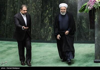 حجتالاسلام حسن روحانی رئیس جمهور در مراسم افتتاحیه یازدهمین دوره مجلس شورای اسلامی