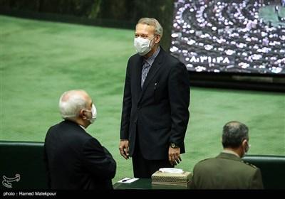 ورود علی لاریجانی به مراسم افتتاحیه یازدهمین دوره مجلس شورای اسلامی
