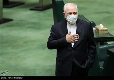 محمدجواد ظریف وزیر امور خارجه در مراسم افتتاحیه یازدهمین دوره مجلس شورای اسلامی