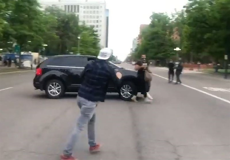 us driver rams car through anti racism protesters in denver video world news tasnim news agency 1399030914373139420504001 mp4