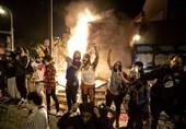 زد و خورد معترضان با پلیس در اطراف کاخ سفید +فیلم