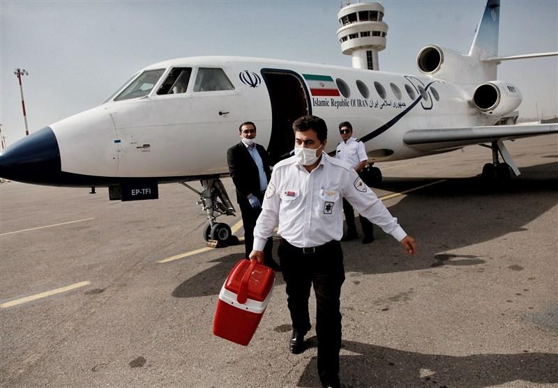 انتقال هوایی قلب از رشت به تهران