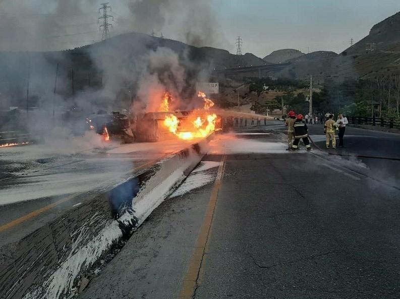 آتشنشانی , سازمان آتشنشانی تهران , آتشسوزی , حوادث جادهای ,