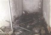 مرگ کارگر جوان در آتشسوزی اتاقک 10 متری + تصاویر