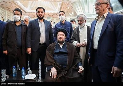 حجتالاسلام سیدحسن خمینی در رزمایش مواسات و همدلی - حرم امام خمینی(ره)