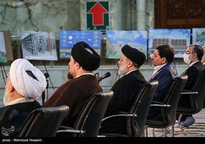 حجتالاسلام سیدابراهیم رئیسی رئیس قوه قضاییه در رزمایش مواسات و همدلی - حرم امام خمینی(ره)