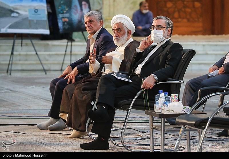 غلامحسین اسماعیلی سخنگوی قوه قضائیه در رزمایش مواسات و همدلی - حرم امام خمینی(ره)
