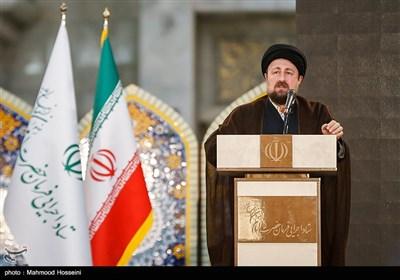 سخنرانی حجتالاسلام سیدحسن خمینی در رزمایش مواسات و همدلی - حرم امام خمینی(ره)