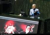 محمدباقر نوبخت رئیس سازمان برنامه و بودجه در جلسه علنی مجلس شورای اسلامی