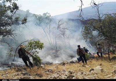 نبرد سخت محیطبانان با آتش در خائیز + تصاویر اختصاصی 