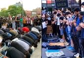 برپایی نماز وحدت در خیابانهای ملتهب آمریکا + فیلم