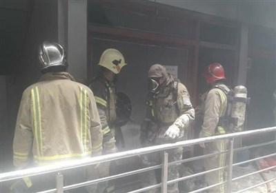 مغازه نگهداری فندک در بازار تهران آتش گرفت + تصاویر