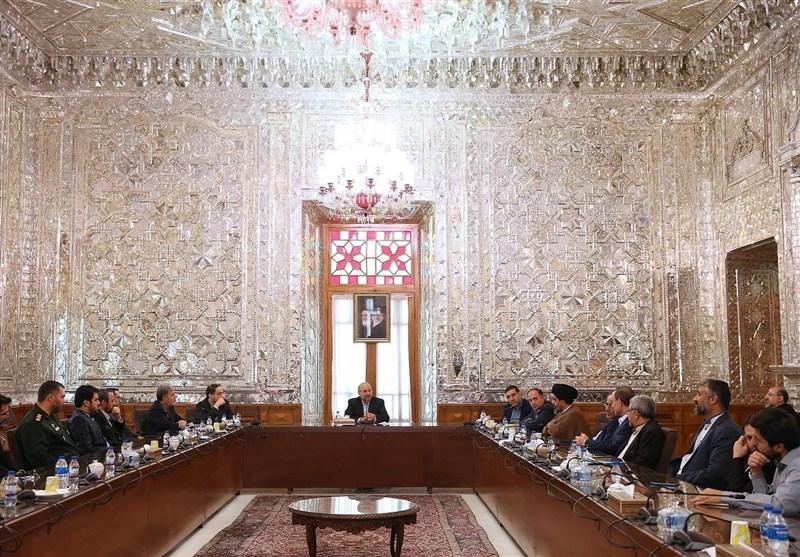 برگزاری مراسم تودیع و معارفه چند تن از مدیران مجلس با حضور قالیباف