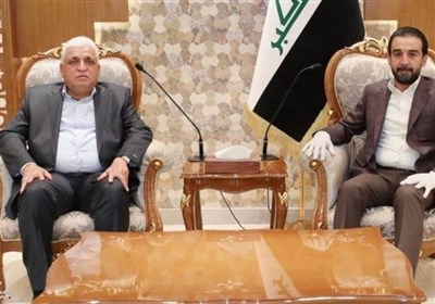 دیدار و گفتوگوی روسای پارلمان عراق و سازمان حشد شعبی