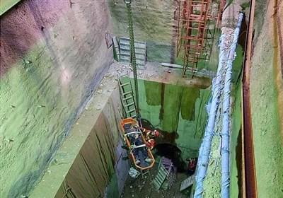 سقوط مرگبار کارگر به گودال ۲۰ متری + تصاویر